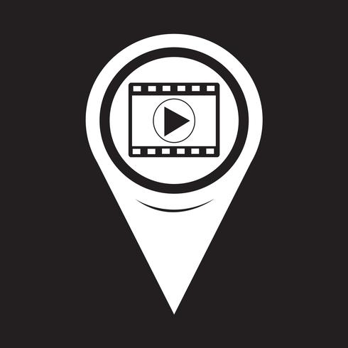 Kaartpictogram aanwijzer filmstrook