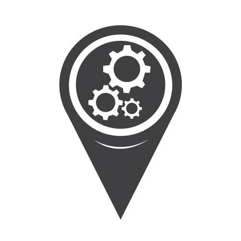 Mapa de ícone de engrenagem de ponteiro