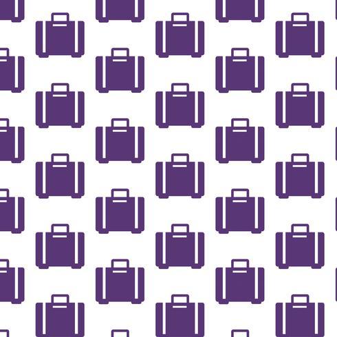 bolsa de equipaje patrón de fondo vector