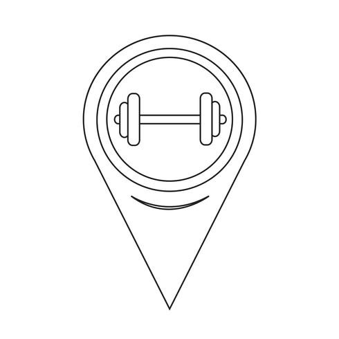 Map Pointer Dumbbell Icon