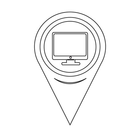 Map Pointer pc monitor icon
