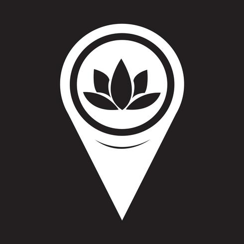 Map Pointer Lotus Icon
