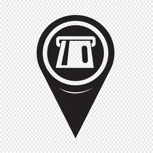 Map Pointer ATM Icon