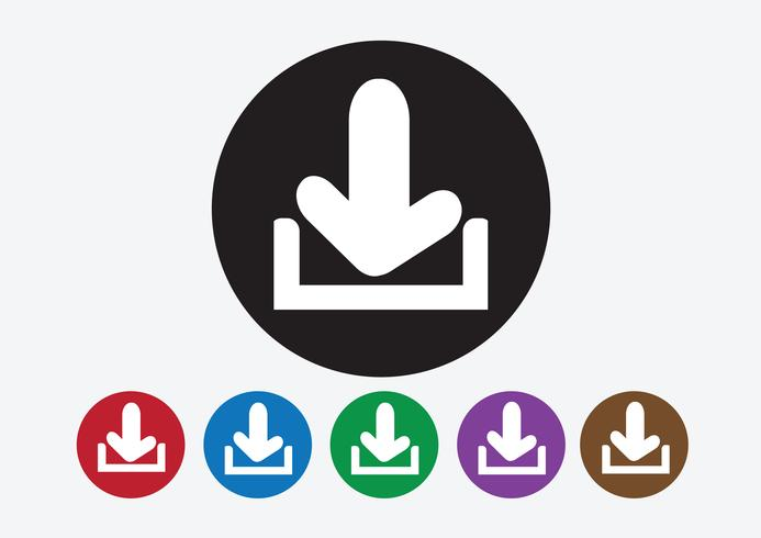 Download icon and Upload symbol button