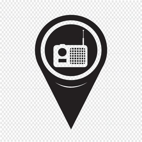 Map Pointer Radio Icon