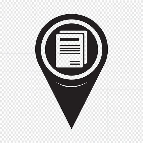 Map Pointer Book Icon vector