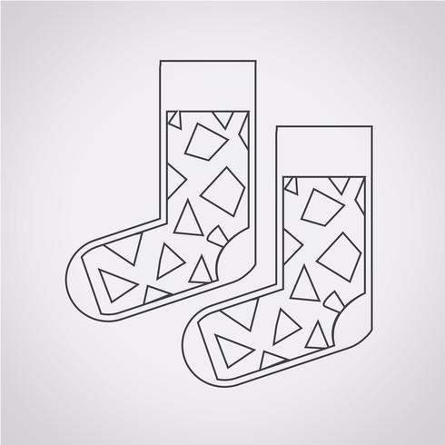 Icono de calcetín símbolo de signo