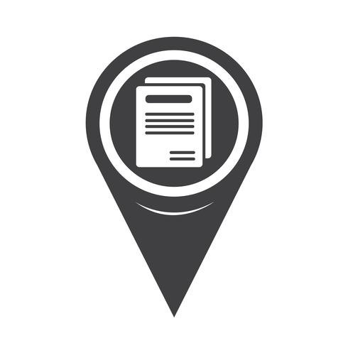 Map Pointer Book Icon