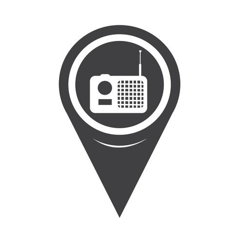 Kartenzeiger-Radio-Symbol