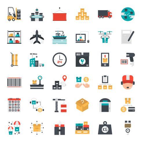 ícone de logística e transporte