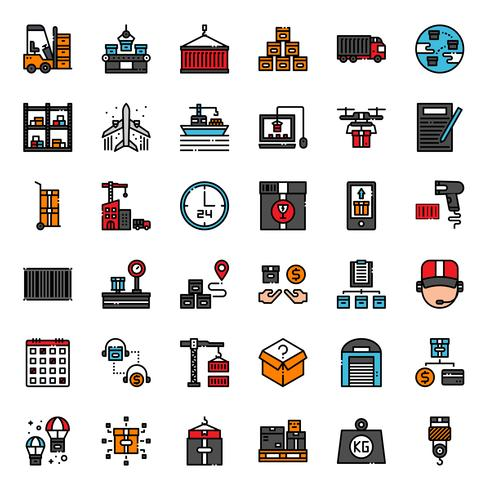 logistic and transportation icon vector