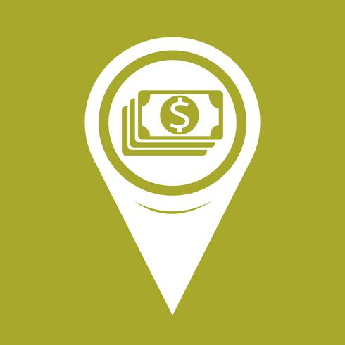 Icono de Pin Pointer Money del mapa