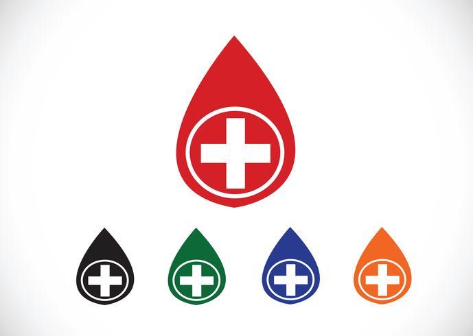Conjunto de ícones de gota de sangue