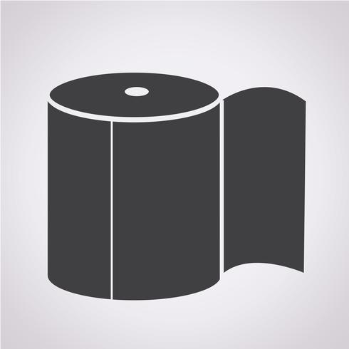 Icono de papel higiénico vector