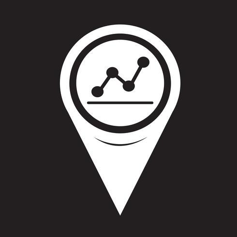 Icono de gráfico de puntero de mapa