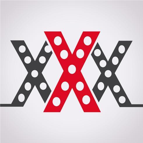 XXX  icon  symbol sign