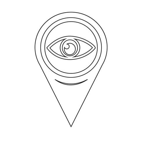 Map Pointer Eye icon