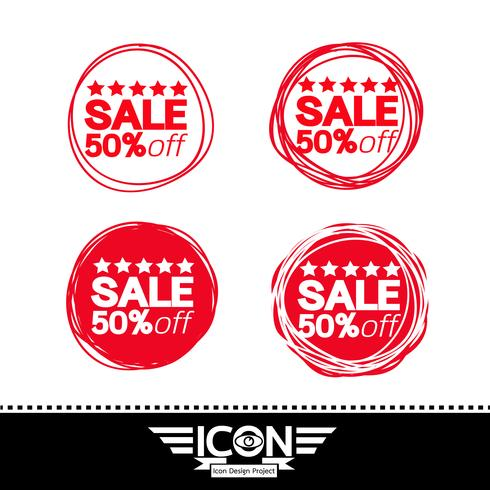 segno di simbolo dell'icona di vendita