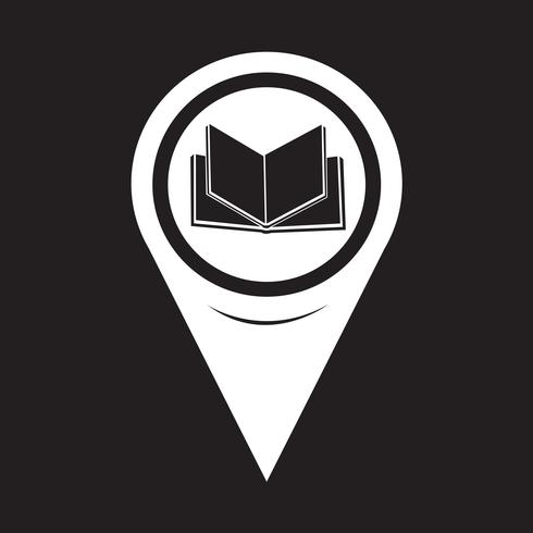 Mapa de puntero icono de libro