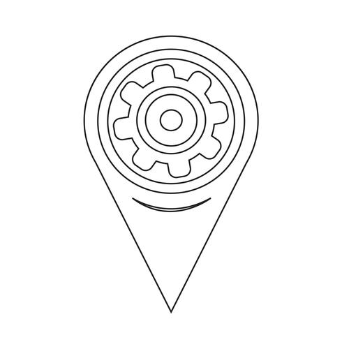Map Pointer Gear-Symbol
