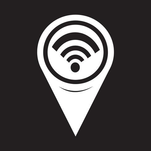 Icona puntatore mappa Wi-Fi