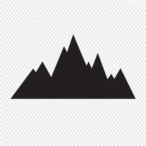 ícone de montanhas sinal de símbolo
