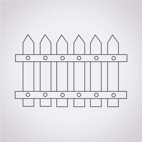 staket ikon symbol tecken vektor