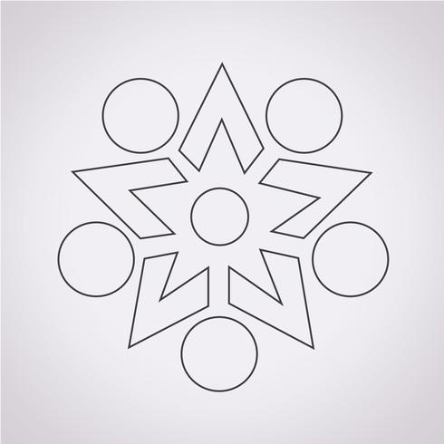 Segno di simbolo dell'icona di rete vettore