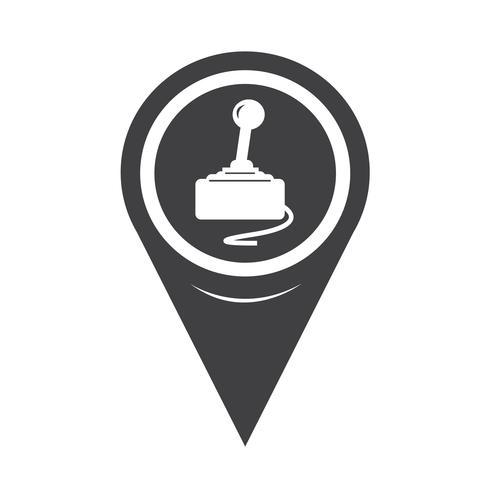 ícone de controlador de jogo de ponteiro de mapa