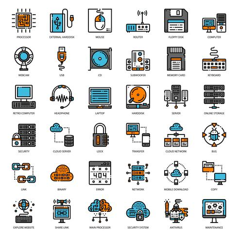 computer filled outline icon