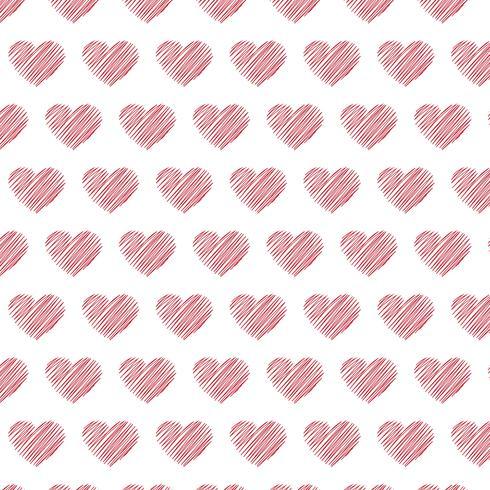hjärtan mönster bakgrund vektor