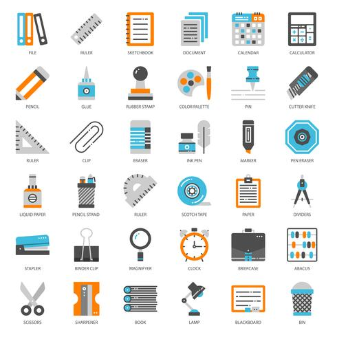 Stationary  flat icon vector