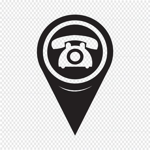 Map Pointer Old Phone Icon