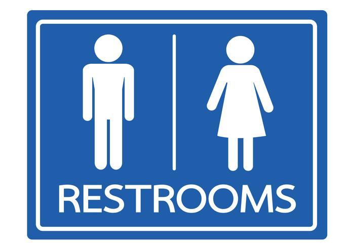 Restroom Symbol Male and Female  Icon vector