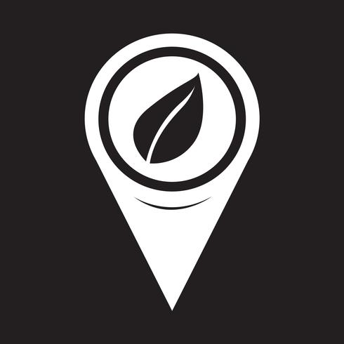 Icono de hoja de puntero de mapa