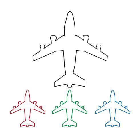 Plane Icon symbol tecken vektor