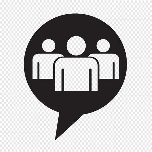 Speech bubble Group people icon