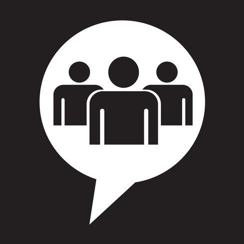 Sprechblase Gruppe Menschen Symbol