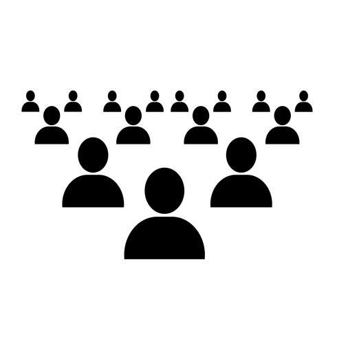 icono de red de personas vector