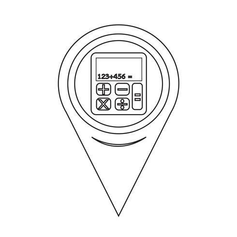 Kartpekarekalkylatorns ikon
