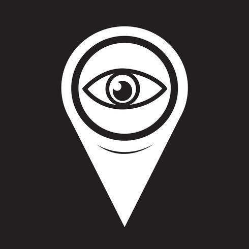 Map Pointer Eye-ikonen vektor