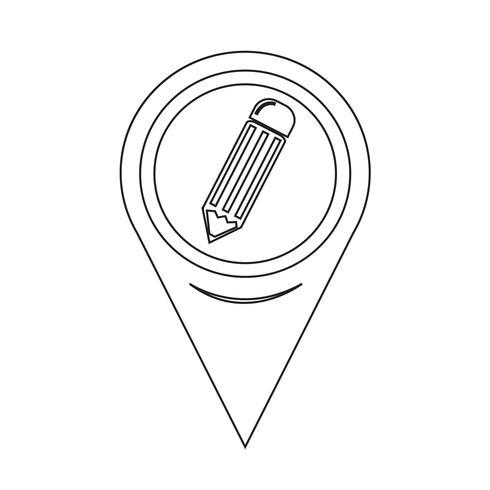 Map Pointer Pencil Icon