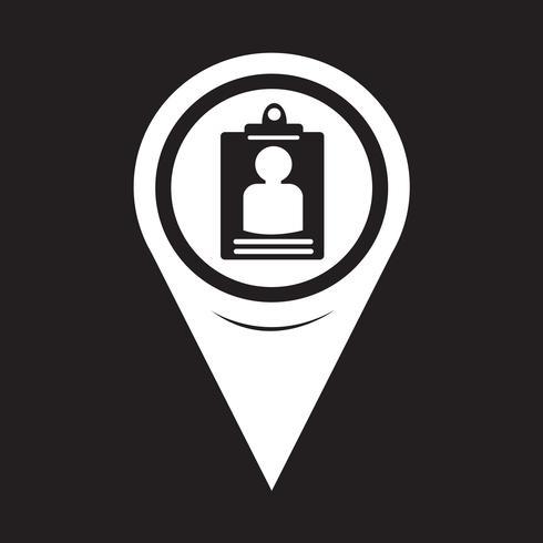 Icona della carta di identità del puntatore della mappa vettore