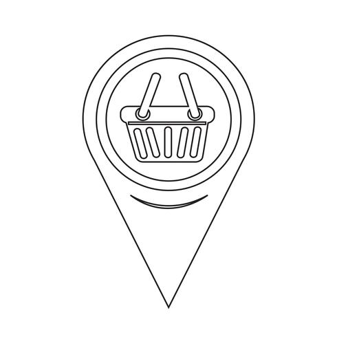Map Pointer Shopping Basket Icon vector