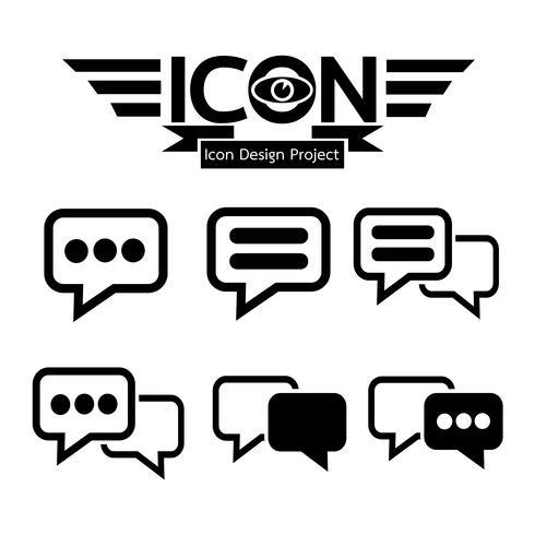 Chatt ikon symbol tecken vektor