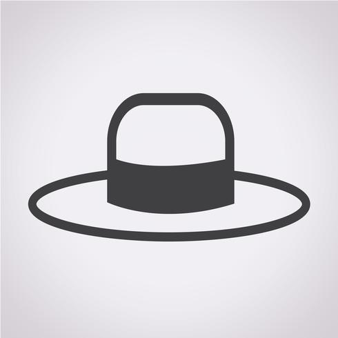 Hat Icon symbol tecken vektor