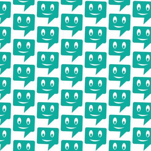 Pattern background talking speech bubble icon