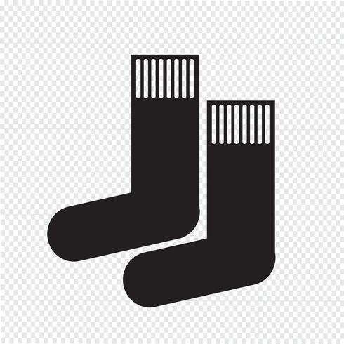 sock icon  symbol sign vector