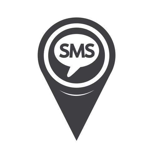 Map Pointer SMS Icon