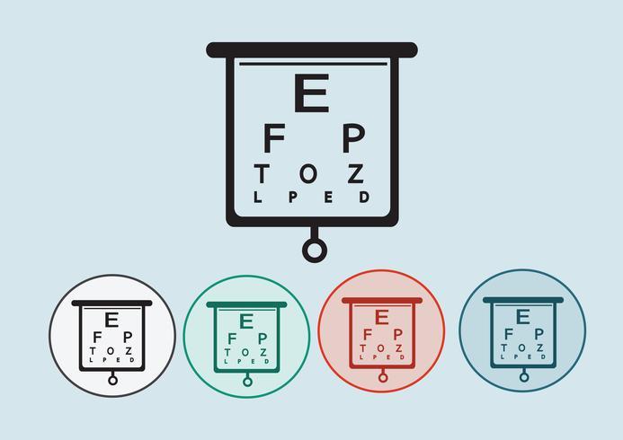 Eye Chart Test Illustration vector